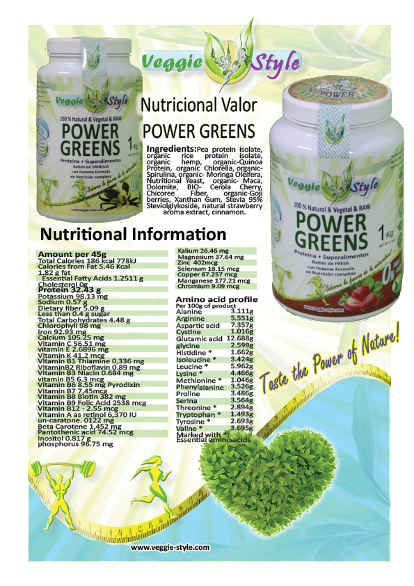 vegan protein shake with superfoods power greens
