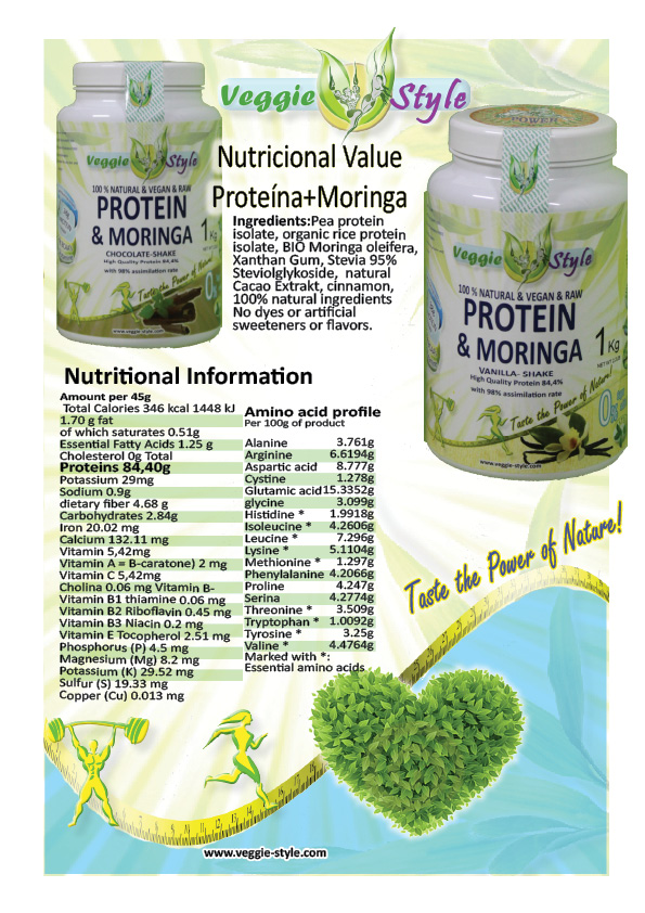vegan protein shake with moringa