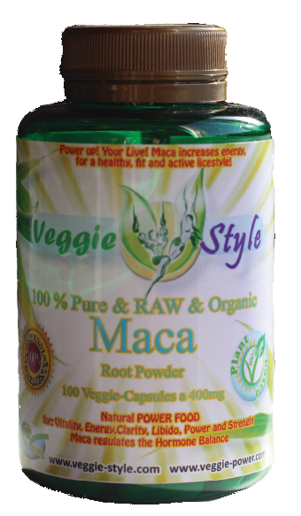 1Veggie-Style-Vegan Supplement-MACA-Powder and CApsules