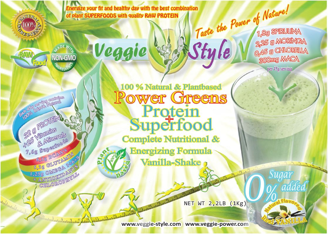 Veggie Style power greens Vegeterian All in One Plant Protein and Superfood Shake